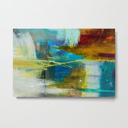 Abstract Expressionist Painting on Canvas Metal Print