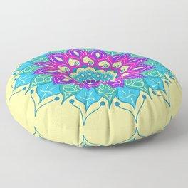 Bright and Beautiful Mandala Floor Pillow