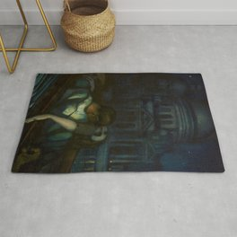 Passion, Venice Canals portrait painting by Federico Beltran Masses Rug