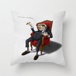 Fly in my soup! Throw Pillow