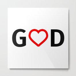 God is Love Metal Print