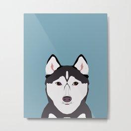 Shiloh - Husky Siberian Husky dog art phone case perfect gift for dog people Metal Print