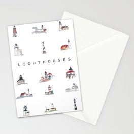 Collection of Lighthouses around the World Stationery Cards