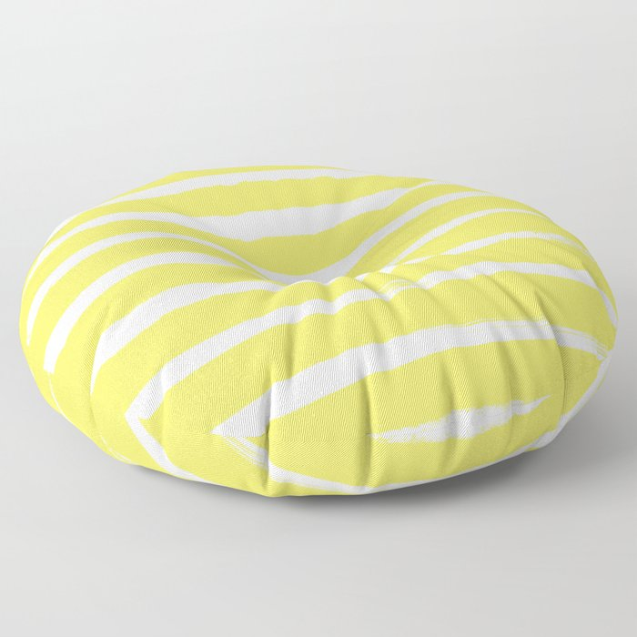 Irregular Stripes Yellow Floor Pillow