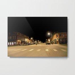 Gold Rush Era Town - Silverton at Night Metal Print