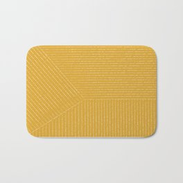 Lines / Yellow Bath Mat