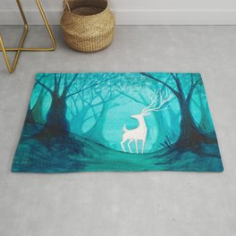 White Stag Rug