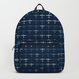 Blue airplane pattern Backpack