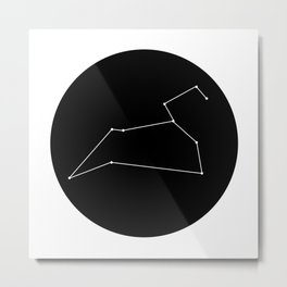 LEO (MINIMALIST DESIGN) Metal Print