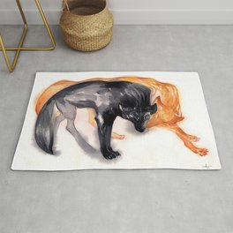 Two Wolves Rug