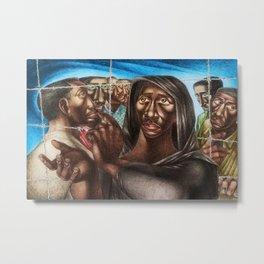African American Masterpiece 'The Trenton Six, '49' Portrait Painting Metal Print