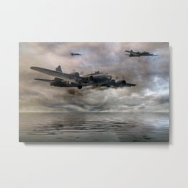 B-17 Flying Fortress - Almost Home Metal Print