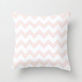 Chevrons - Pink & Cream Throw Pillow