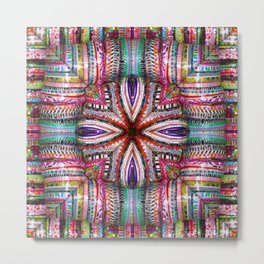 number 323 multicolored purple green red yellow Metal Print