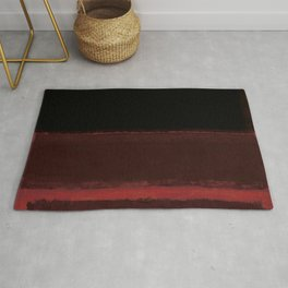 1958 Four Darks on Red by Mark Rothko Rug