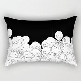 Cherry Blossom Boarder Rectangular Pillow
