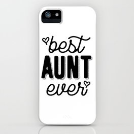 Womens Best Aunt Ever Heart Auntie Mother's Day Gift iPhone Case