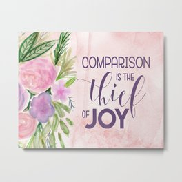 Comparison in the Thief of Joy Metal Print