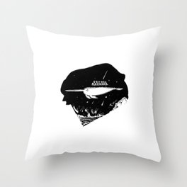 Cosmic Narwhal Throw Pillow