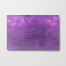Burst of Color Purple Abstract Sponge Art Blend Texture Metal Print