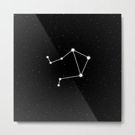 Libra Star Sign Night Sky Metal Print