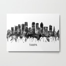 Tampa Florida Skyline BW Metal Print