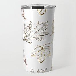 Leaves (browns) Travel Mug