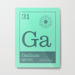 Periodic Elements - 31 Gallium (Ga) Metal Print