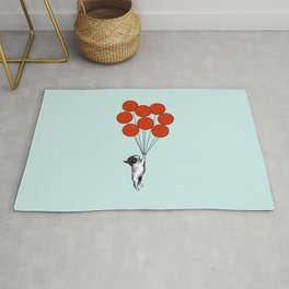 I Believe I Can Fly French Bulldog Rug