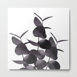 Eucalyptus Leaves Black White #1 #foliage #decor #art #society6 Metal Print