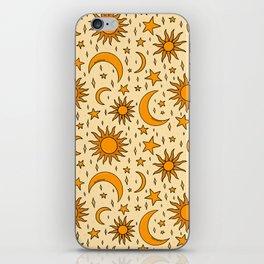 Vintage Sun and Star Print iPhone Skin