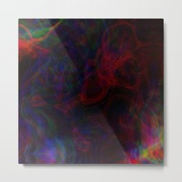 Neon Smoke Metal Print