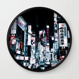 Kabukicho Signs Wall Clock