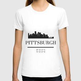 PITTSBURGH PENNSYLVANIA BLACK SILHOUETTE SKYLINE ART T-shirt