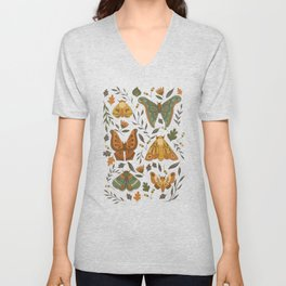 Autumn Moths Unisex V-Neck