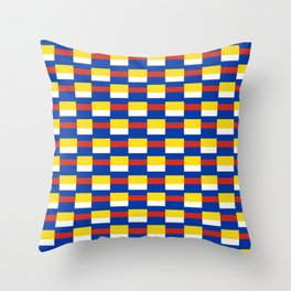 Mix of flag:  Russia and ukraine Throw Pillow