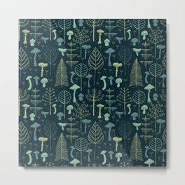 Magic Forest Green Metal Print