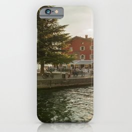 Sunset on the Garda's lake river in Torbole (IT) iPhone Case
