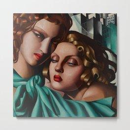 Classical Masterpiece 'Cold Beauty - Two Girls - Les Jeunes Filles' by Tamara de Lempicka Metal Print