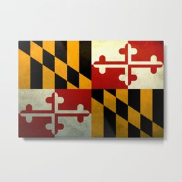 vintage of flag of Maryland  Metal Print