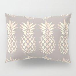 Pretty copper rose gold pineapple Pillow Sham