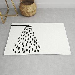 Shower in bathroom Rug
