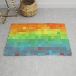 Pixel Rainbow Rug