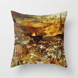 Vivid Retro - The Triumph of Death Throw Pillow