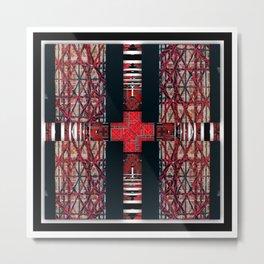 262  black white red Metal Print