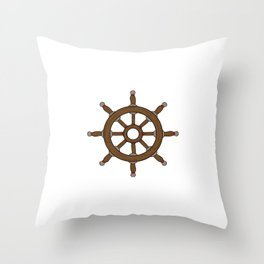 My Boat My Rules Boating Design Captain T-shirt Design Wave Water Swim Sailboats Sailing Sail Throw Pillow