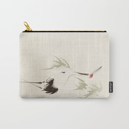 Oriental Red-Crowned Crane 001 Carry-All Pouch