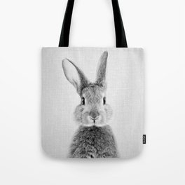 Rabbit - Black & White Tote Bag
