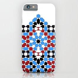 Zellige - red & blue iPhone Case