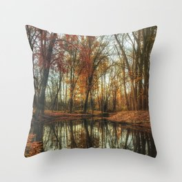 Leaves Are Falling Autumn Is Calling Throw Pillow